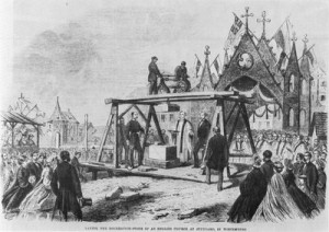 Laying the foundation stone in 1864.