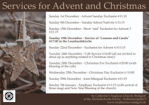 Services for Advent and Christmas